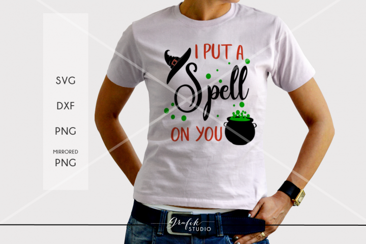 I put a spell on you Halloween SVG File