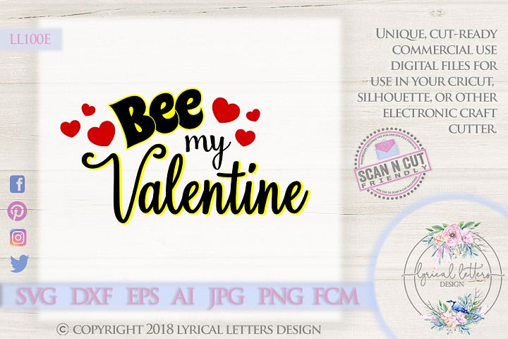 Bee My Valentine SVG DXF FCM LL100E