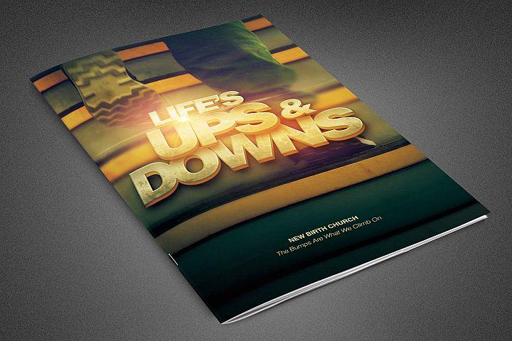 Lifes Ups and Downs Church Bulletin