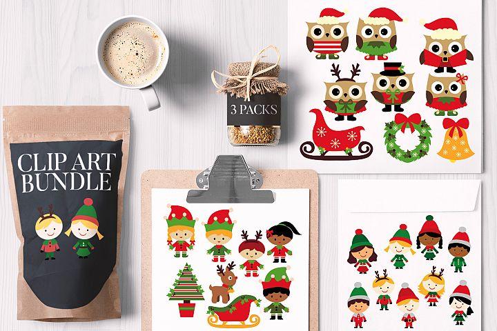 Christmas Kids and Owls Bundle