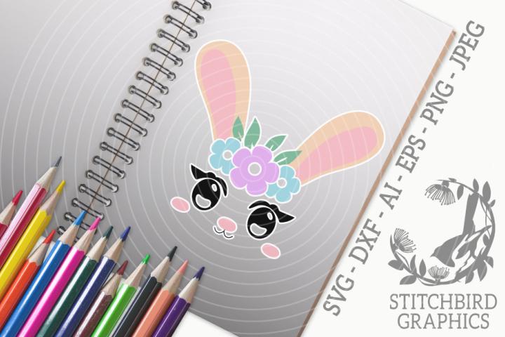 Bunny Rabbit Head 3 SVG, Silhouette Studio, Cricut, Eps, Dxf