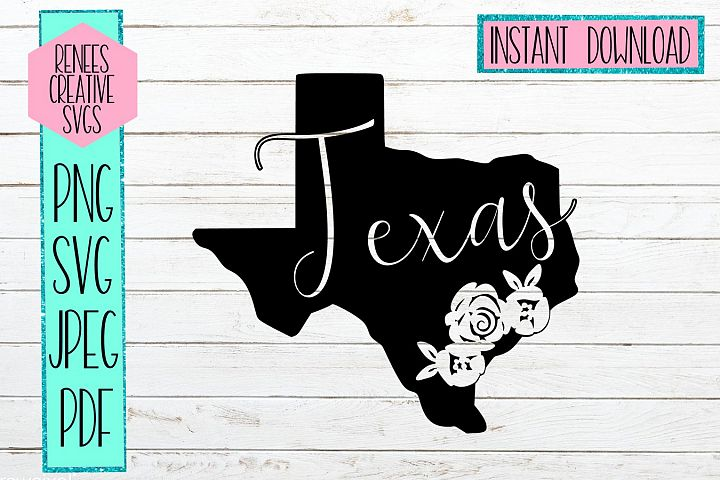 Texas state with flowers| State SVG | SVG Cutting file