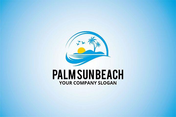 palm sun beach Logo