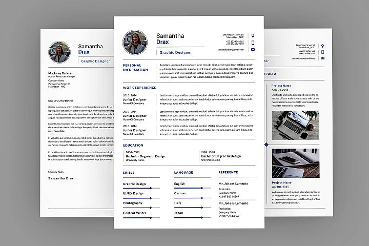 Samantha CV Resume Designer