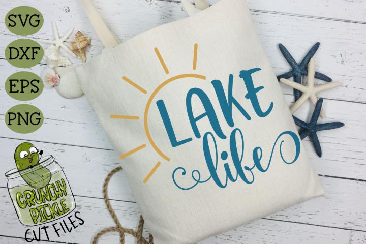 Lake Life Sun SVG