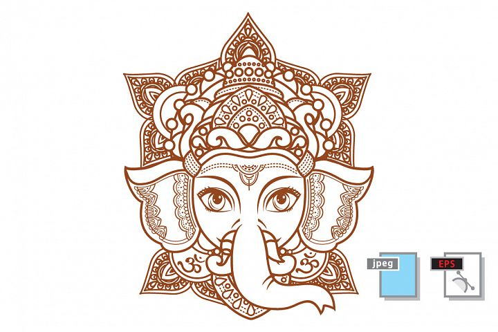 Lord Ganesha. Vector illustration of Happy Lord Ganesh for Ganpati Chaturthi.