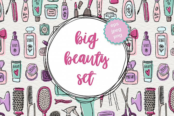 Big beauty vector set