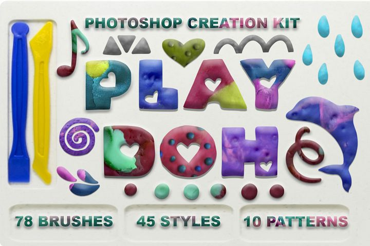 Play Doh. Photoshop creation kit.