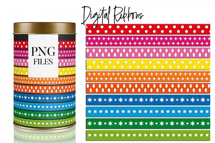 Ribbons Rainbow Colors, Basic Design
