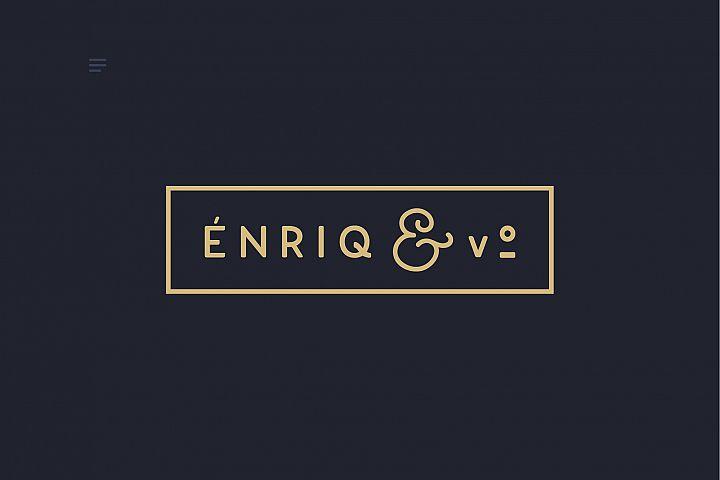 Enrique - 8 Fonts Fashionable Elegant Sans Serif Font example image 8