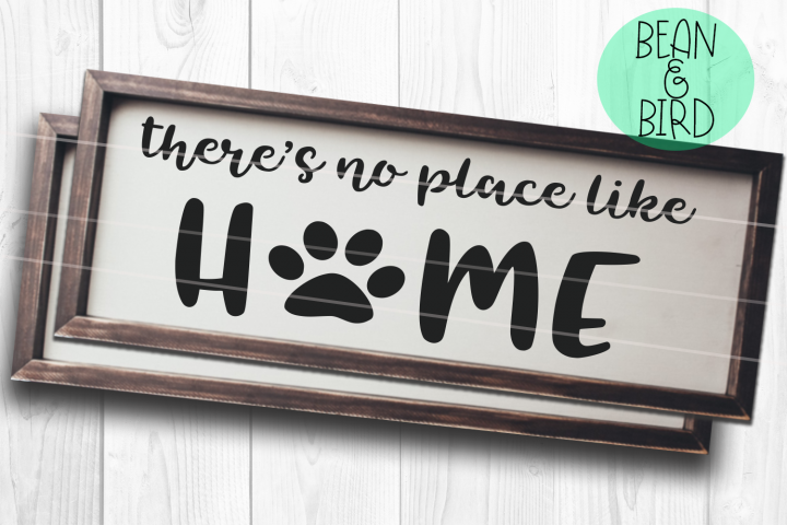 No place like home with Paw print