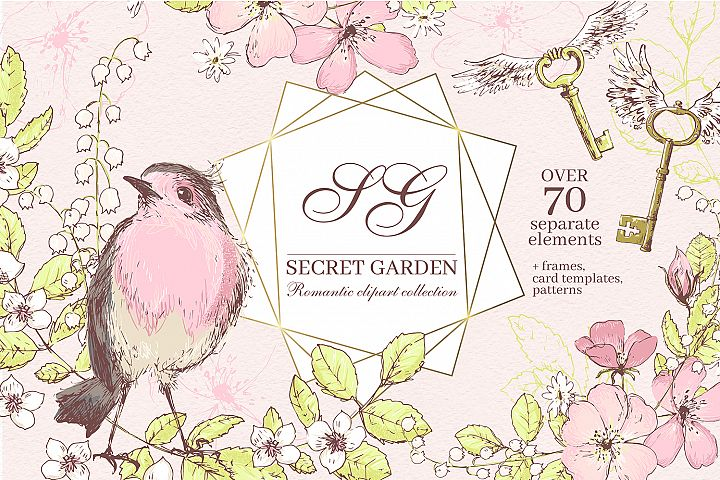 Secret Garden graphic kit