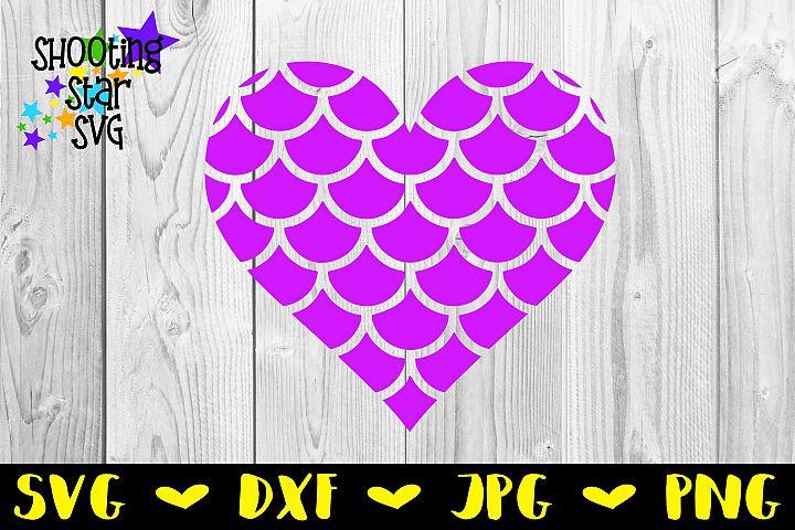 Mermaid Scales Heart - Mermaid SVG - Childrens SVG