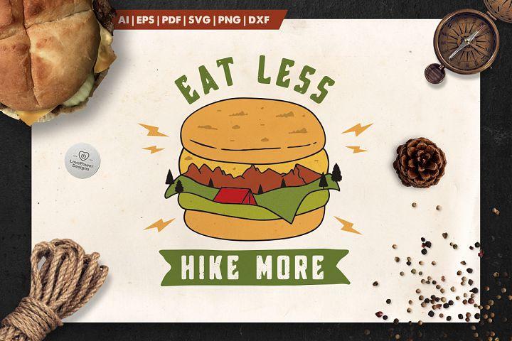 Mountain Burger Logo / Hike More Logo / Eat Less Hike More