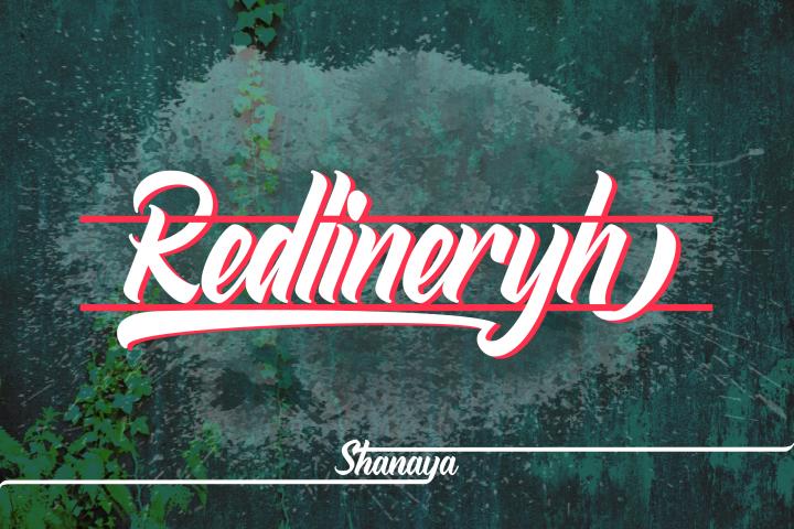 Redlineryh Typeface I EXTENDED LICENSE