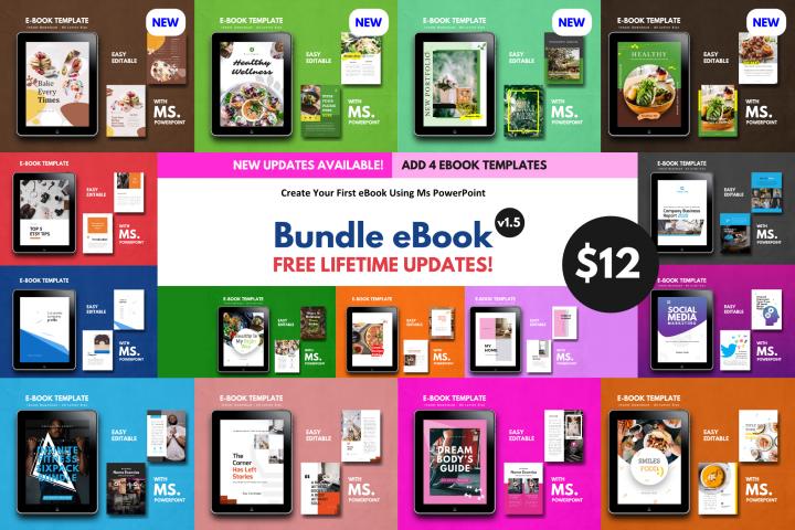 15 eBook Bundle v1.5 Template Editable Using Ms PowerPoint