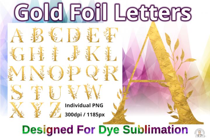 Gold Foil Effect Capital Letter PNG Alphabet
