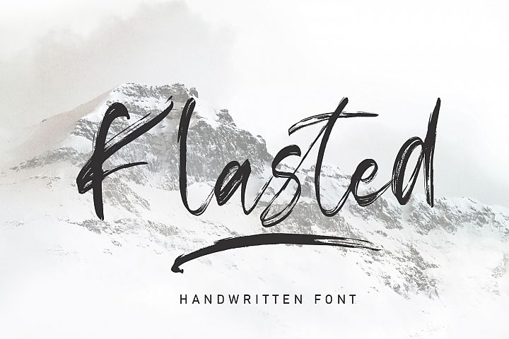 Klasted Brush Font