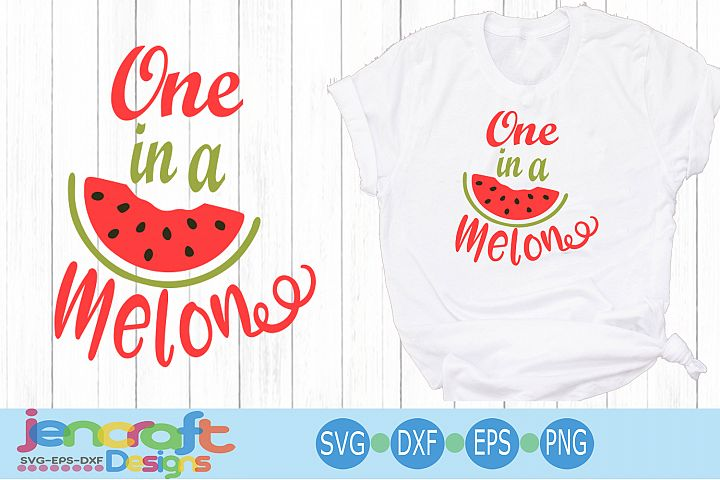 Watermelon svg, One in a Melon Summer shirt design svg