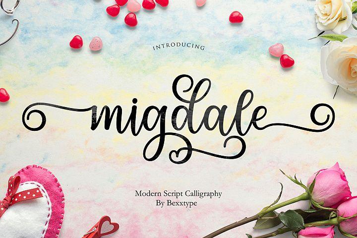 Migdale Script || Love Font