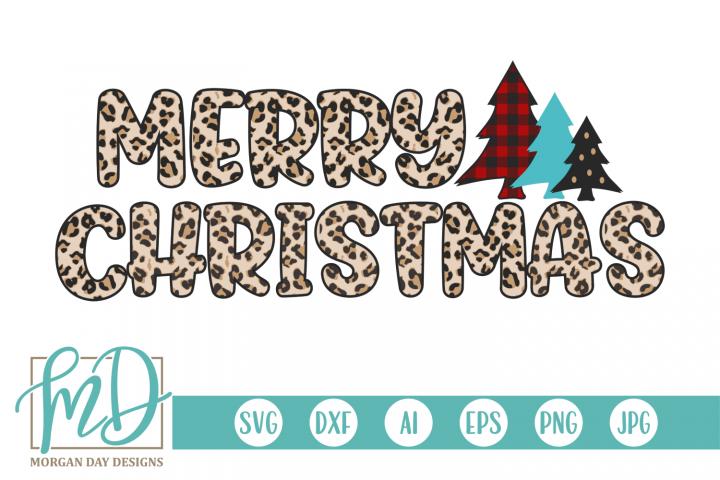 Buffalo Plaid Christmas Tree - Leopard Merry Christmas SVG