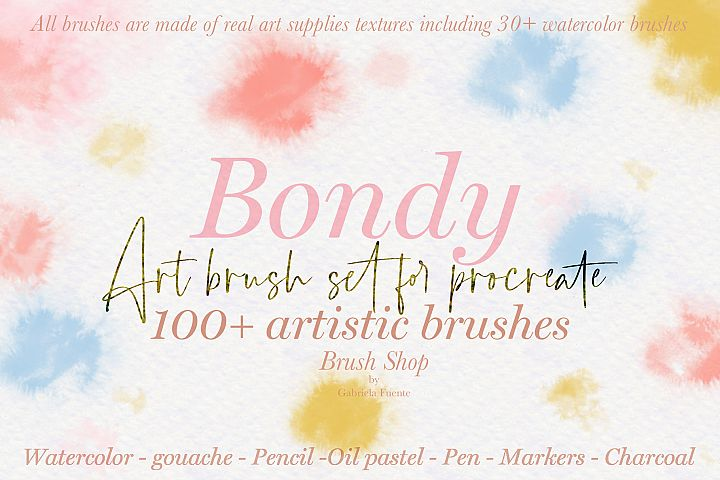 100 plus artistic brushes for Procreate