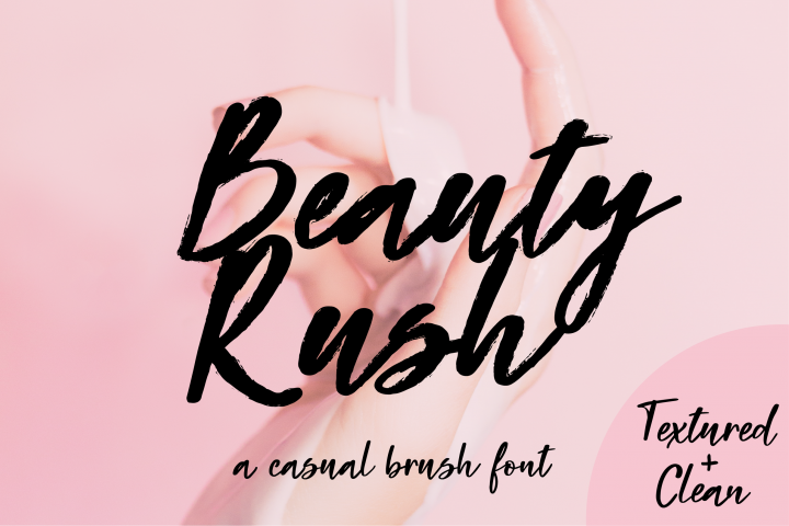 Beauty Rush Font Set