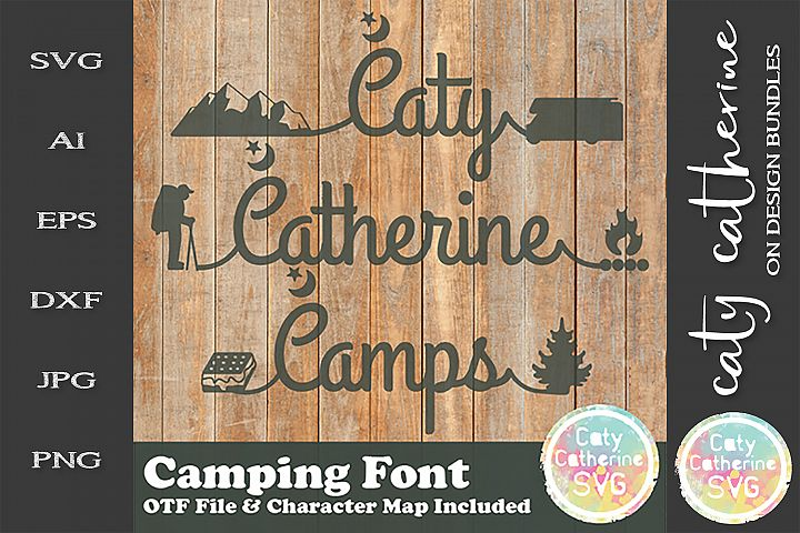 Camping Font Caty Catherine OTF Font