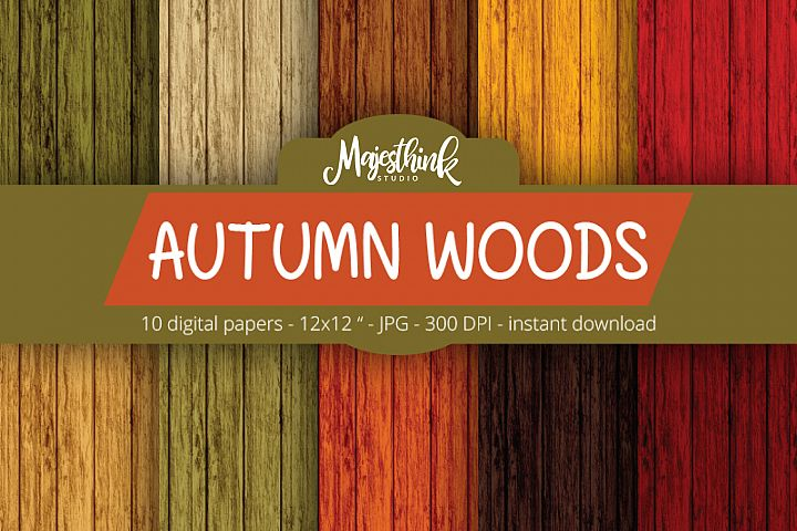 Autumn Woods Pattern - Fall Background