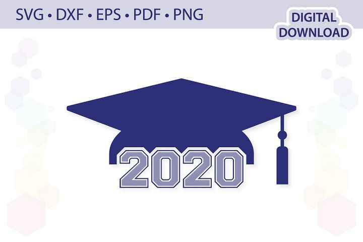 Graduation cap cut file .svg .dxf .eps .pdf .png