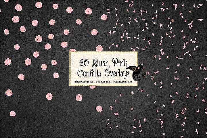 Blush Pink Confetti Overlays
