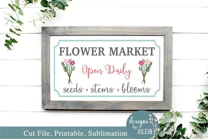 Flower Marker - SVG, Sublimation, Printable, Vintage Market