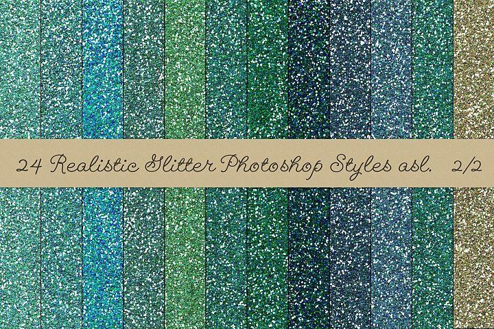 24 Realistic Glitter Photoshop Styles asl