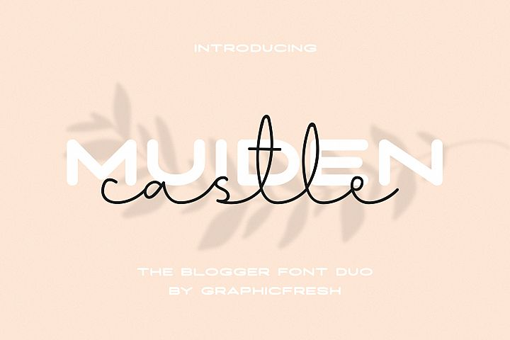 Muiden Castle - The Blogger Font Duo
