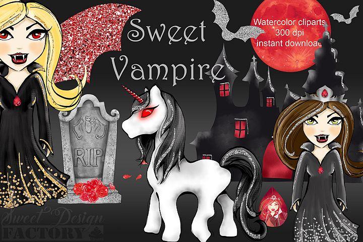 Halloween Vampire dolls cliparts
