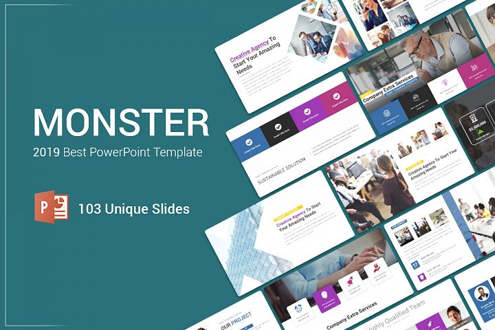 Monster PowerPoint Template