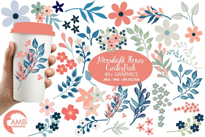 Moonlight Flower Creator Pack cliparts AMB-1840