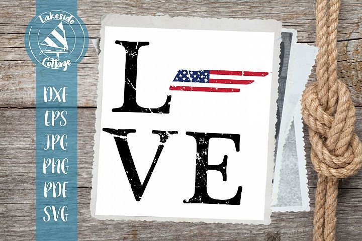 LOVE Tennessee - 4th of july svg - memorial day svg dxf eps