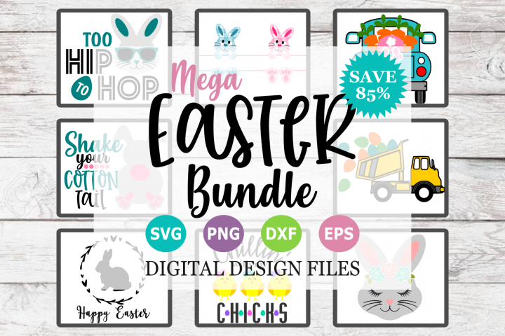 Mega Easter Bundle - A Easter SVG Cut File Collection