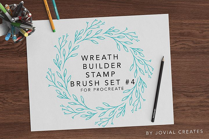 Wreath Builder Stamp Brush Set #4 for Procreate