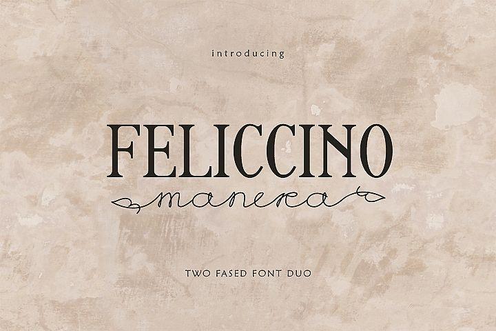 Feliccino Manera Two Faced Font Duo