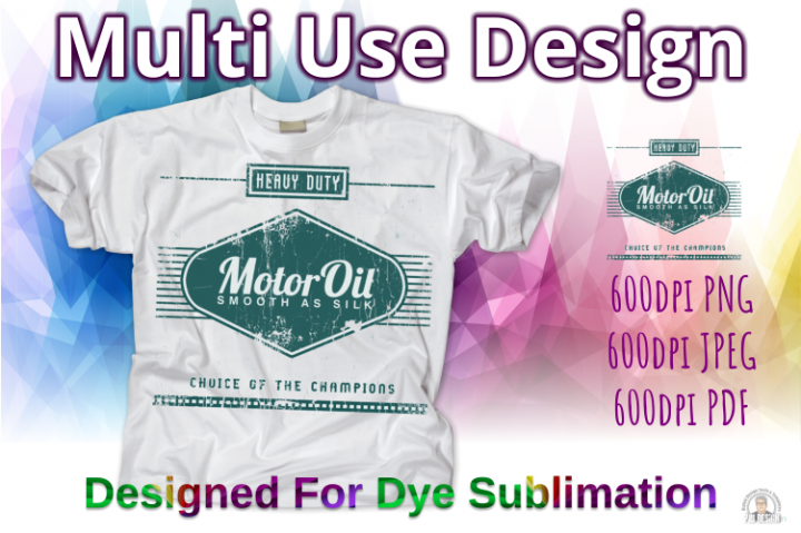 Old Oil Can Style Sublimation Design - Teal