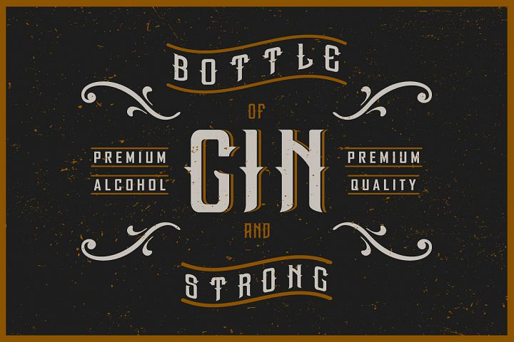 Gin handcrafted typeface