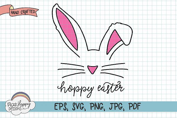 Hoppy Easter - Hand Lettered Easter SVG