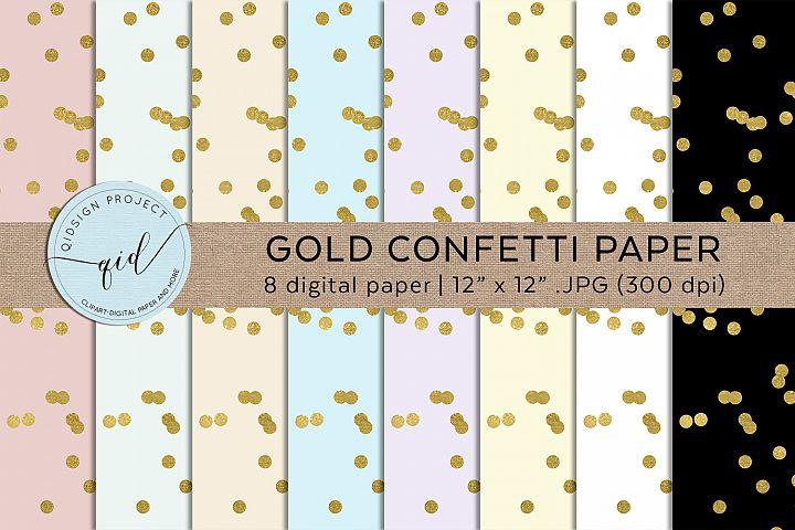 Gold Confetti Paper .JPG Digital Paper
