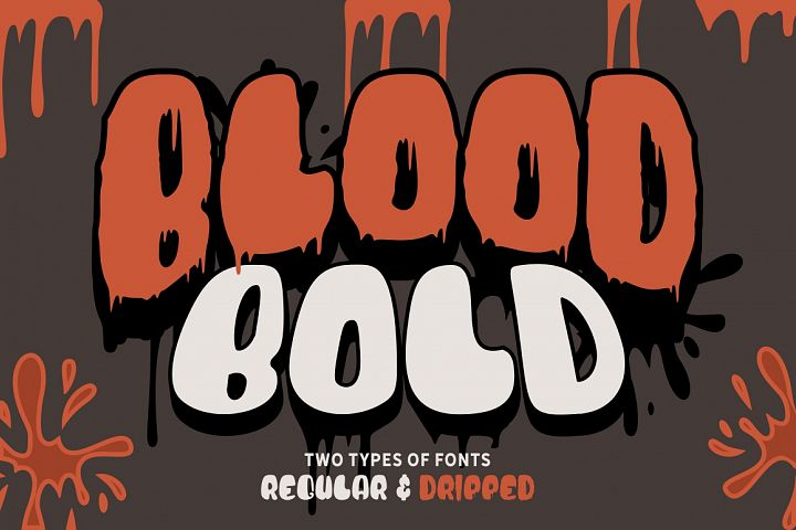 Blood Bold - Fun Halloween Two Fonts