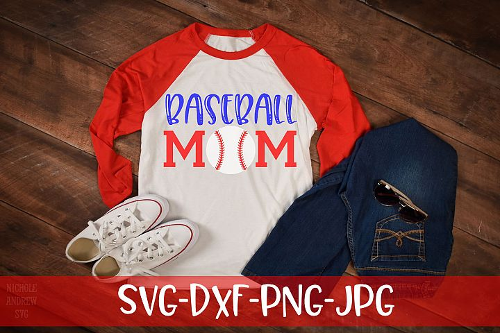 Baseball Mom, Baseball, SVG
