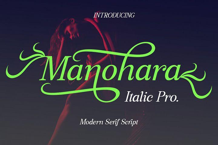 Manohara Italic Pro
