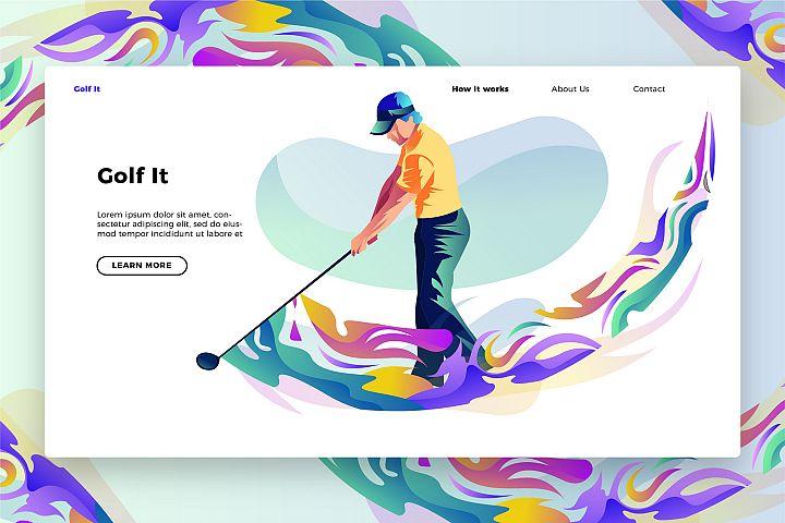 Golf It - Banner & Landing Page
