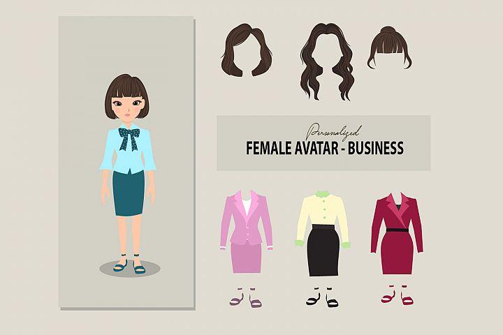 Female avatar - business